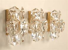 outstanding set of 3 matching vintage quot kalmar quot austrian crystal wall sconces at 1stdibs
