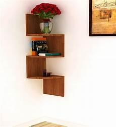 buy home sparkle brown mango wood corner shelf