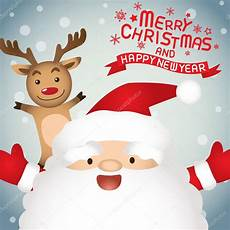 merry christmas and happy new year santa claus and rudolph stock vector 169 sungchul77 58127003