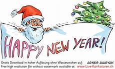 weihnachten happy new year agnes live karikaturen