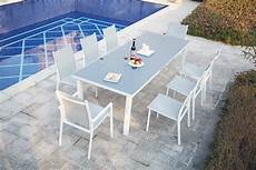 ensemble table de jardin extensible en aluminium 8