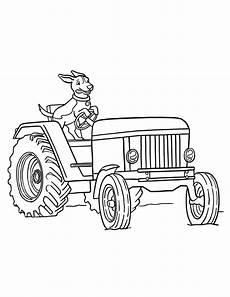 ausmalbilder kleiner roter traktor vorlagen zum ausmalen