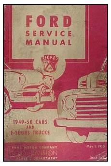 car repair manual download 2011 ford f series super duty parking system 1949 1950 ford car f series truck repair shop manual original