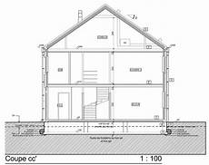 coupe d une maison ossature bois