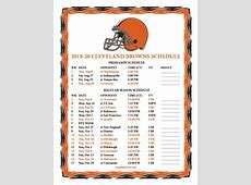 printable cleveland browns schedule 2020