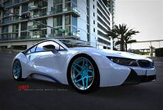 6sixty design bmw i8 tuning felgen mit finish in liquid blue