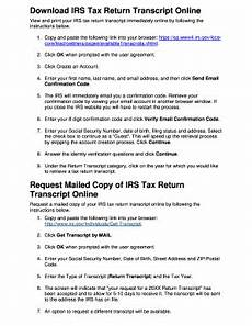 24 printable irs tax transcript online forms and templates