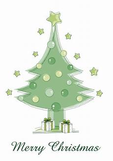 green merry christmas tree vector free download