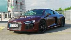 2016 audi r8 v10 plus fahrbericht test review lets youtube