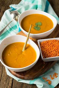 Rote Linsen Suppe Mit Kokosmilch Curry Und Paprika