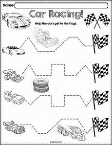 vehicles worksheet for preschool 15244 trace the pattern race cars worksheets cars preschool motor activities for