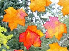Fensterdeko Herbst Basteln - fall window leaf suncatchers free printable