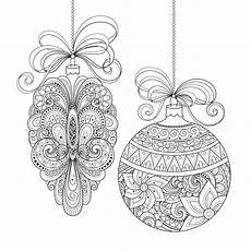 christmas ornaments christmas adult coloring pages