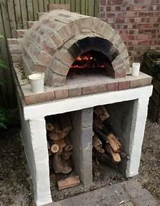 pizzaofen garten selber bauen backstein mauern brennholz