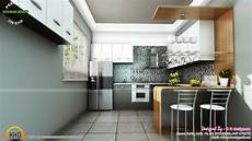 Kitchen Room Interior Study Room Modern Kitchen Living Interior Kerala Home
