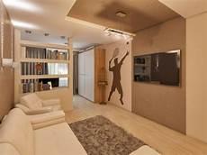 Wandgestaltung Jugendzimmer Junge Strukturfarbe Braun