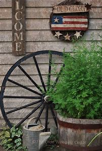 Primitive Rustic Garden Decor