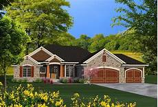 ranch craftsman house plans ranch house plan with craftsman detailing 89939ah 1st