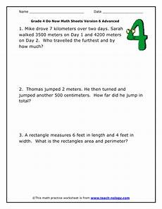 worksheets of word problem for grade 4 11104 do now math grade 4 advanced version 6
