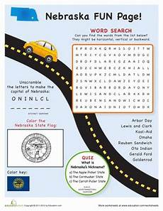 to worksheets free 18631 nebraska facts facts travel road trip with