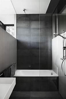 black bathroom tile ideas bathroom tile idea use large tiles on the floor and walls 18 pictures