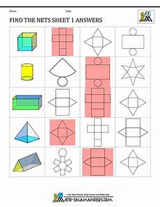 grade 5 geometry nets worksheets 828 simple 3d polygons search shapes worksheets geometry worksheets math geometry
