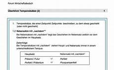 praktische prüfung tipps alles was 252 ber die temporals 228 tze wissen sollte arbeitsblatt als pdf datei
