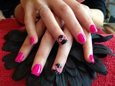 full set of acrylic nails with ping gelux gel polish
