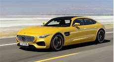 2019 mercedes amg gt4 yellow color images cars