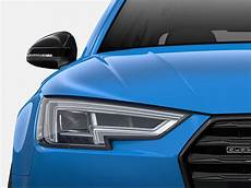 2018 audi s4 black rear lip spoiler and mirror cap kit with audi side assist zaw071600ldsp