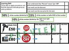 percentages money worksheets ks2 2860 ks2 money sales percentage discount problem solving by pdiggie teaching resources tes