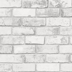 imitation brique blanche papier peint vinyle intiss 233 brique blanche arcelot castorama