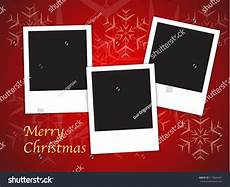merry christmas card templates with blank photo frames background vector illustration