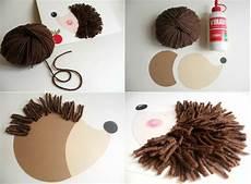 Basteln Mit Wolle - deko ideen igel basteln mit kindern f 252 r niedliche