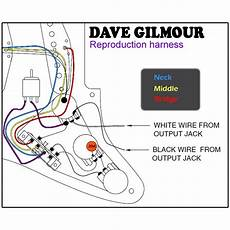 Dave Gilmour Deluxe Pre Wired Stratocaster Wiring Kit With