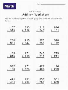 grade 3 math worksheet addition and subtraction 3 digit addition and subtraction for school math