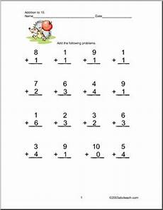 addition worksheets with pictures up to 10 9594 addition up to 10 worksheets abcteach
