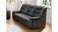 couch 3 sitzer 3 sitzer grande sofa couch in stoff dunkelgrau inkl