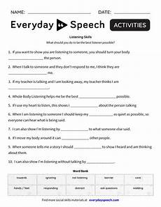 listening worksheets 18364 listening skills everyday speech everyday speech