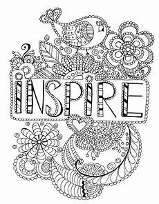 mandala coloring pages with quotes 17979 inspire words coloring page words coloring pages for adults coloring pages quote