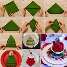 weihnachten servietten falten 10 festive napkin decor ideas for the