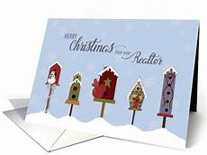 merry christmas realtor images merry christmas from your realtor winter birdhouses card 1507680