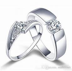 2018 wholesale 925 sterling silver rings couple ring diamond engagement ring wedding band