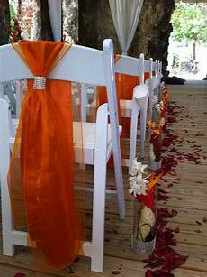 orange chair sashes with some bling inspired by the