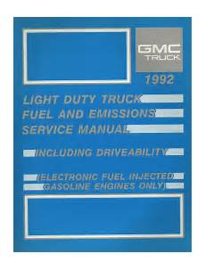 small engine repair manuals free download 1992 gmc 1500 parking system 1992 gmc chevrolet light duty truck fuel and emissions service manual 225 fuel injected gas