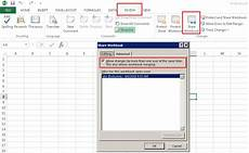 excel 2016 enable shared workbook track changes compare and merge workbook features