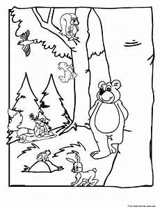 woodland animals coloring pages 17187 forest habitat coloring pages sketch coloring page