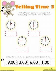 kindergarten time worksheets free printables education com