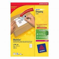 avery l7165 500 99 1x67 7mm address labels with blockout l7165 500
