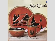 Clay Art LODGE Dinnerware Set   Service For 4   Features
